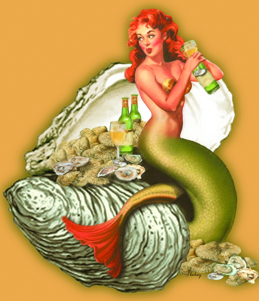 Every mermaid knows when oyster season begins